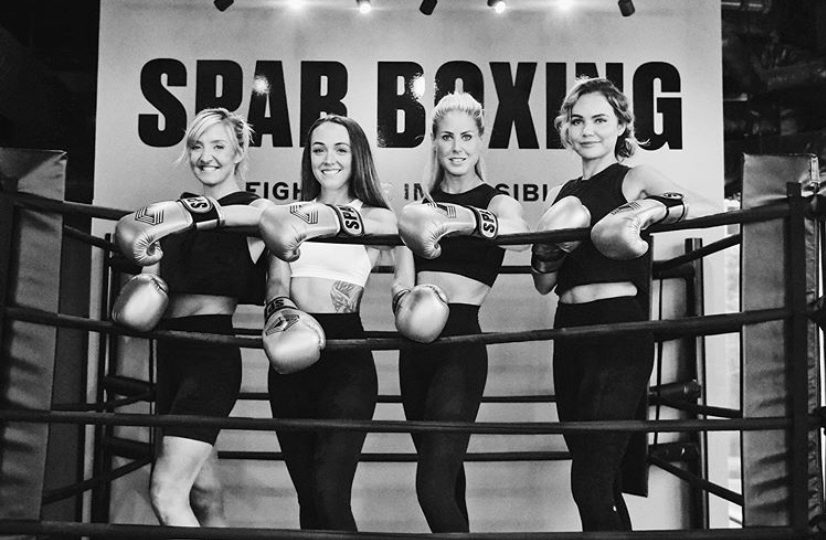 Boxers in Spar Boxing ring