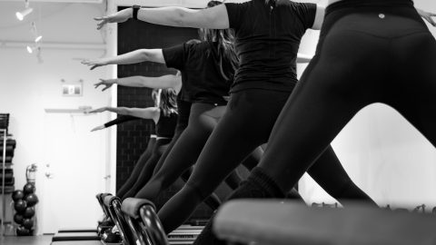 women on barre at SALT pilates + barre